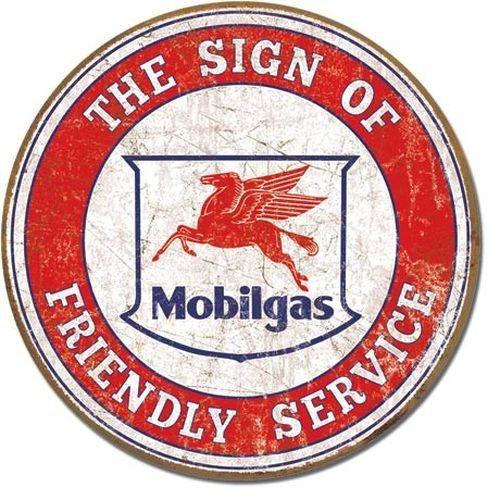 Blechschild Mobil - Friendly Service-DE2025