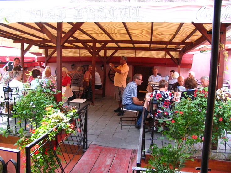 Eating in Dracula house, Sighisoara, Romania with a group of Norwegian tourists was muc more funnier than I thaught first.