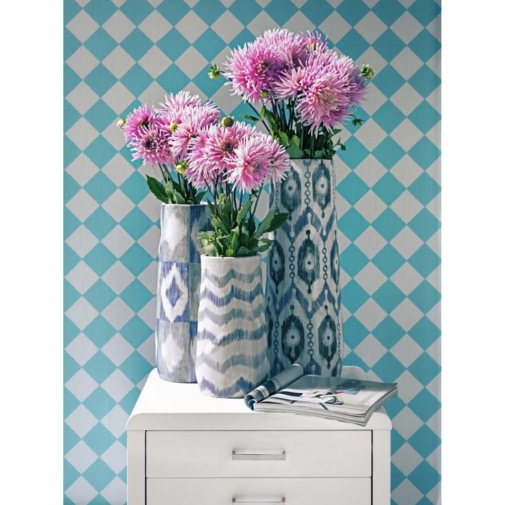 Arden Blue Ikat Vase Large | Domayne Online Store