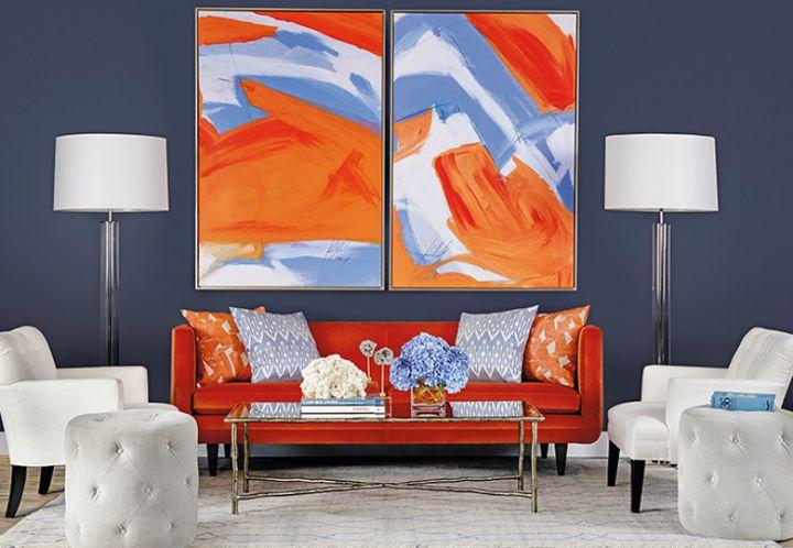 1000 ideas about orange living rooms on pinterest cozy living rooms orange walls and orange. Black Bedroom Furniture Sets. Home Design Ideas