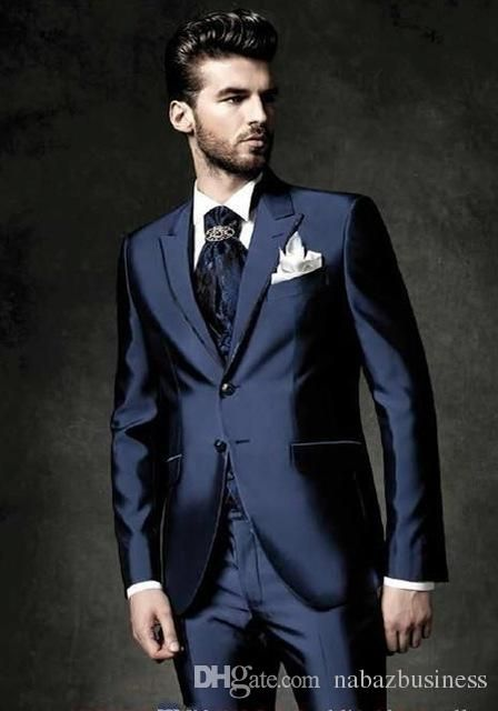 Wedding Royal Blue Shinny Mens Dinner Party Prom Suits Groom Tuxedos Groomsmen Wedding Blazer Suits Jacket+Pants+Vest+Tie Mens Tuxedo Styles Mens Tuxedos Rentals From Nabazbusiness, $78.8| Dhgate.Com