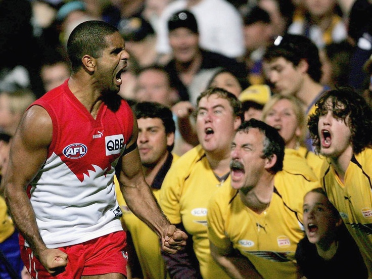 AFL - West Coast Eagles vs Sydney Swans ... Micky shows them how it's done!
