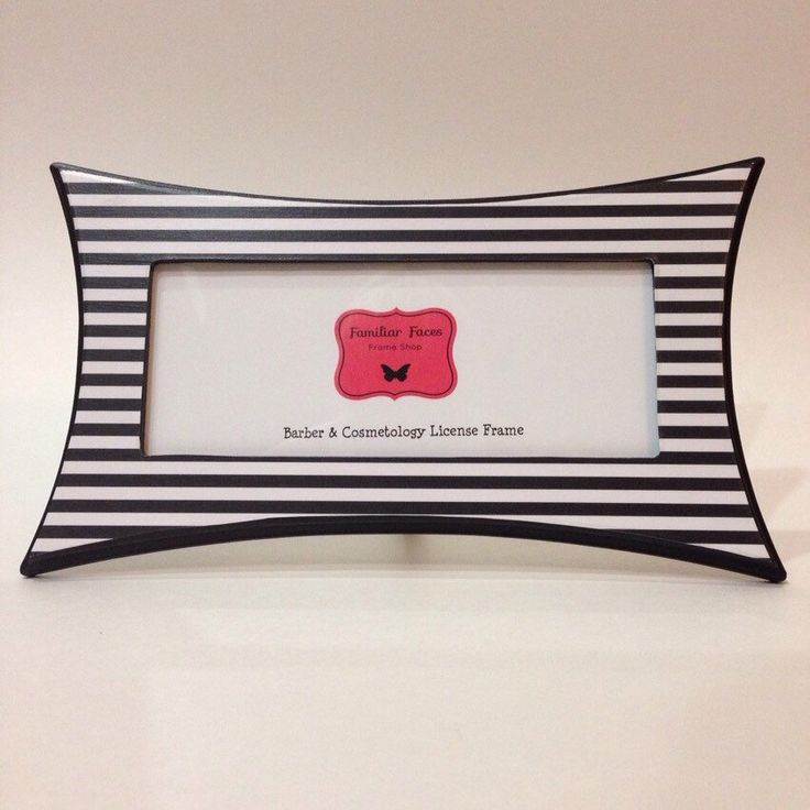 barber cosmetology license frame black white stripes fits 8 12 x 3 58 business license