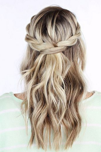 Wedding Magazine - 14 ways to wear your hair down on your wedding day. The Twisted Crown. Also very much love this too!