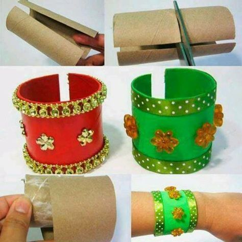 basteln mit klopapierrollen diy ideen deko ideen basteln mit kindern armband