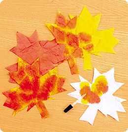 Color-Mixing Leaves from Lakeshore Learning: Discover the magic of color mixing as children create vibrant autumn leaves!