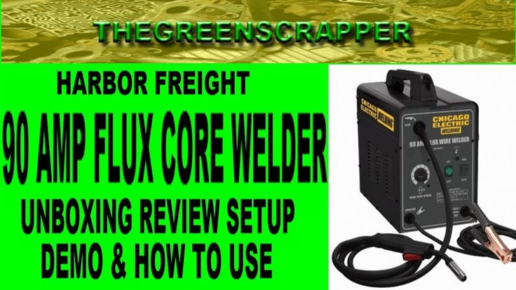 HARBOR FREIGHT 90 AMP WELDER - FLUX CORE WELDERS UNBOXING REVIEW SETUP DEMO & HOW TO USE TO WELD HARBOR FREIGHT 90 AMP WELDER - FLUX CORE WELDERS UNBOXING REVIEW SETUP DEMO & HOW TO USE TO WELD  ORDER ONE TO YOUR DOOR - http://ift.tt/2EXZOPi We went to harbor freight tools the other day looking into cheap welders to start some metal work fabrication.  I've wanted to get a welder for awhile so that I could start welding trailers and other projects that requires me to weld.  Ive been doing…