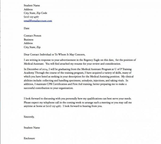 best medical assistant cover letter ideas on - Simple Cover Letter Example