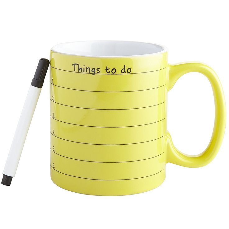 This is a pretty good idea since people probably think of things they have to do while having their morning coffee