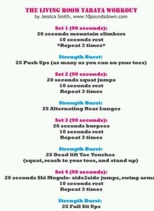 Living room tabata i will do this pinterest for Living room routine