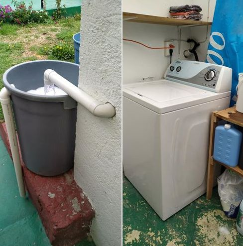 Ideas para ahorrar agua en casa #Agua #Ahorro #Trucos Bahay Kubo, Concrete Footings, House On Stilts, Cool Inventions, Plumbing, Ideas Para, Washing Machine, Tiny House, Home And Garden