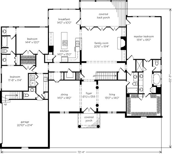 Butlers Pantry To Dining Room Breakfast Jack And Jill Bathroom For The Kids Laundry Half Bath Off Garage Master Bedroom With Access