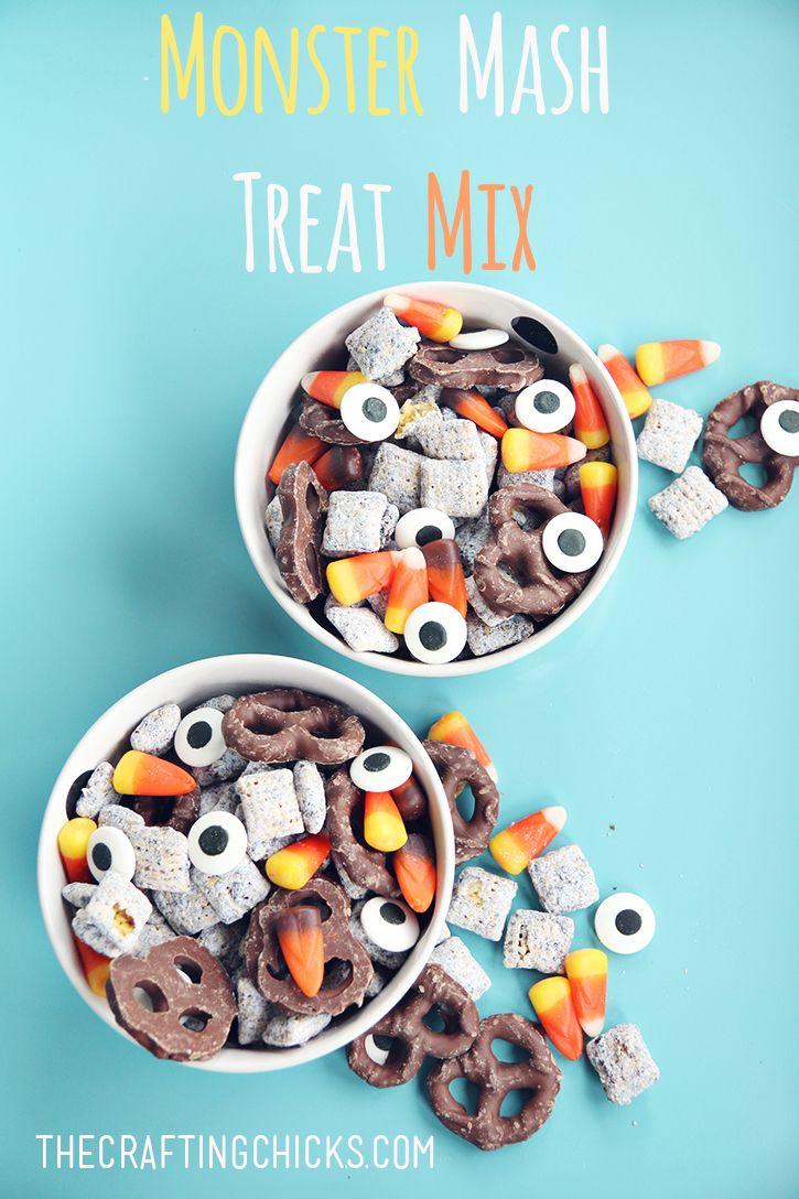 Halloween Monster Mash Treat Mix on www.thecraftingchicks.com
