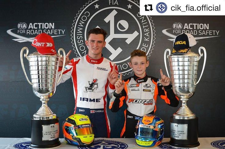 #Repost @cik_fia.official (@get_repost)  Two tough World Championships full of surprises in England :  www.cikfia.com  The 2017 edition of the CIK-FIA World Championship and the CIK-FIA World Junior Championship which has just finished on the English circuit of PF International will be remembered as an extremely difficult Competition. Many favourites missed their target while a new hierarchy emerged. Two Britons finally imposed themselves with unquestionable brilliance. Danny Keirle was…