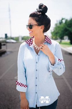 MISSISSIPPI STATE GINGHAM CHAMBRAY