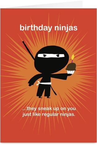 Birthday Ninjas Shinobi/Ninja Ninja birthday, Birthday, Happy