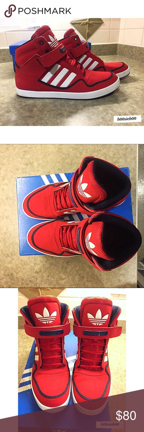 Adidas Originals Adidas Originals AR 2.0 Red/White High Tops Adidas Shoes Sneakers