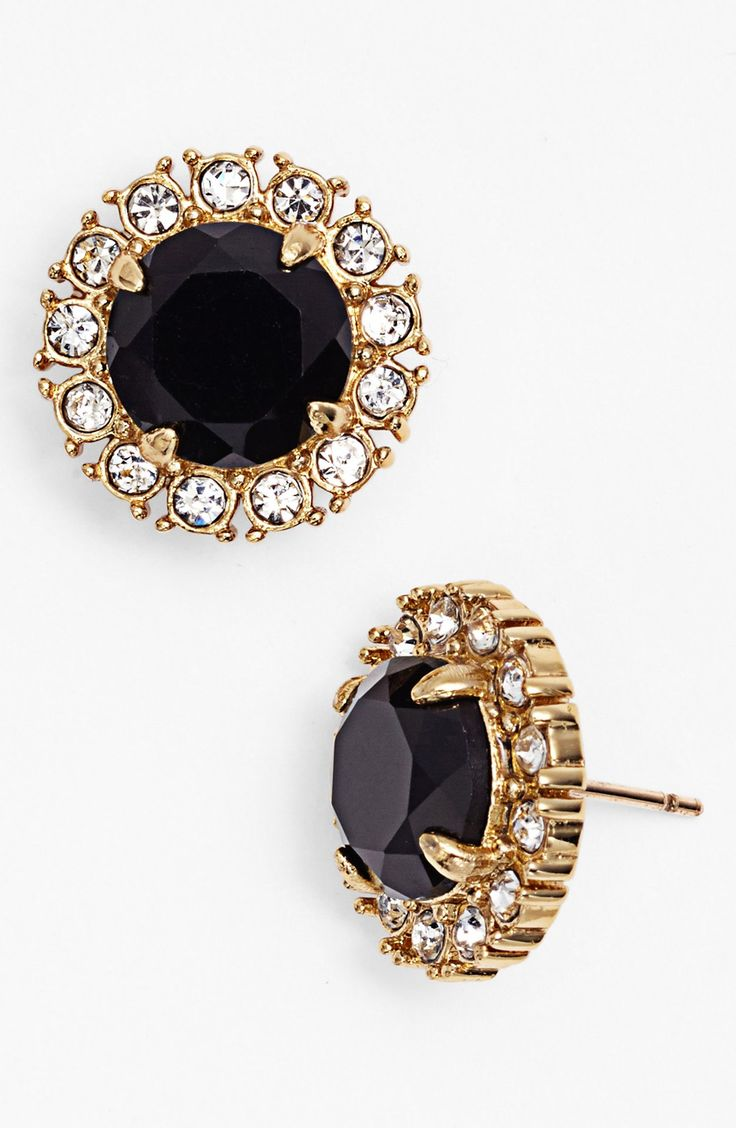 Love these glam Kate Spade stone and crystal earrings.
