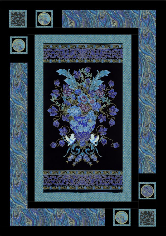 Palazzo - Oriental Elegance #Quilt by Leigh Headington - Timeless Treasures