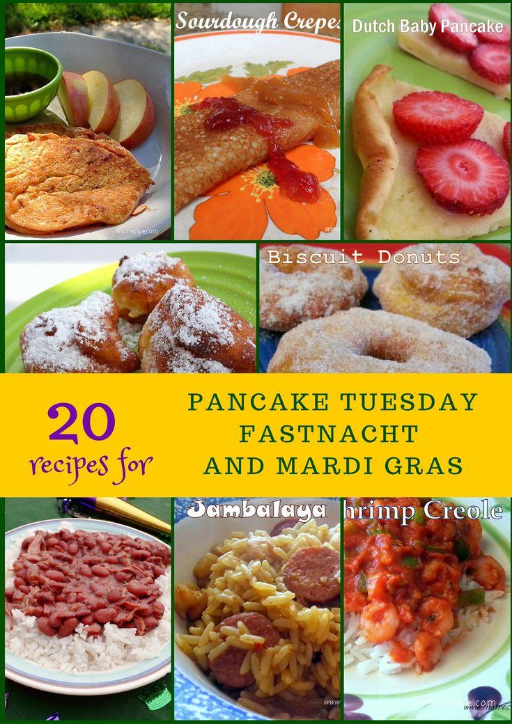 Recipes for Pancake Tuesday (Shrove Tuesday), Fastnacht and Mardi Gras