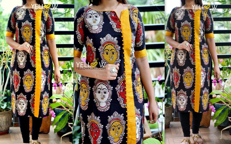 Kalamkari Silk face printed Kurti with rawsilk highlights .*Can be customised as per customer preferences. <br> Kindly write to teamyellow@yellowkurti.com or whatsapp @ 7995038888 for assistance on placing orders ! 24 August 2017