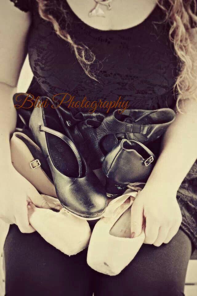 Dance shoes senior pictures