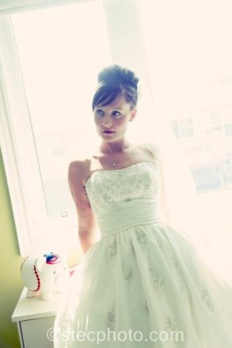 Bridal ballerina bun.