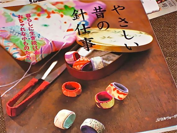 Japanese Craft Pattern Book Sewing with Chirimen