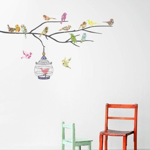 Decowall, DW-1202, Birdcage & oiseaux sur la branche stickers muraux | paroi murale | sticker mural, http://www.amazon.fr/dp/B005OQ9FLA/ref=cm_sw_r_pi_awdl_Fojfub15S3YPC