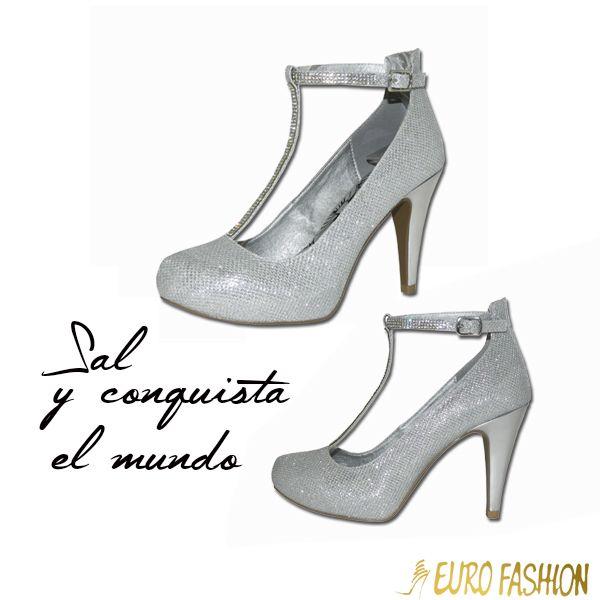 #Fiesta #Tacones #Silver #Plata #Zapatos #Eurofashion