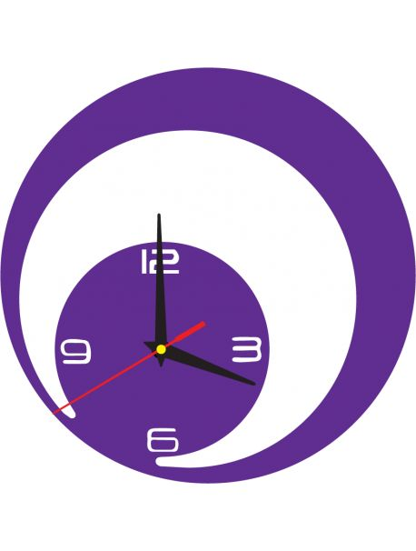Wall clock design JOHN color: violet Reference:  X0017-RAL4003-PURPLE-BLACK hands Condition:  New product  Availability:  In Stock  Time to change! Decorating watches will revive every interior, highlight the charm and style of your space. Discover your living with new clocks. Plexiglass wall clocks are a wonderful decoration of your interior.
