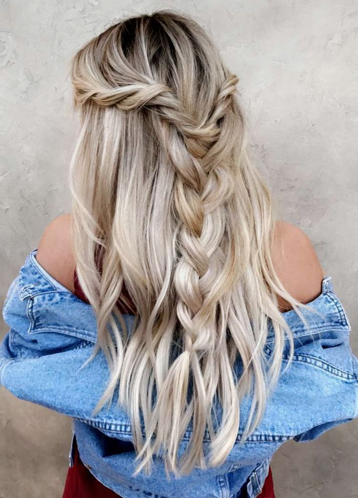 waterfall twists into a pull through braid