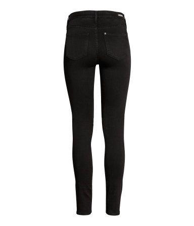 Shaping Skinny Regular Jeans | Svart/No fade black | Dam | H&M FI