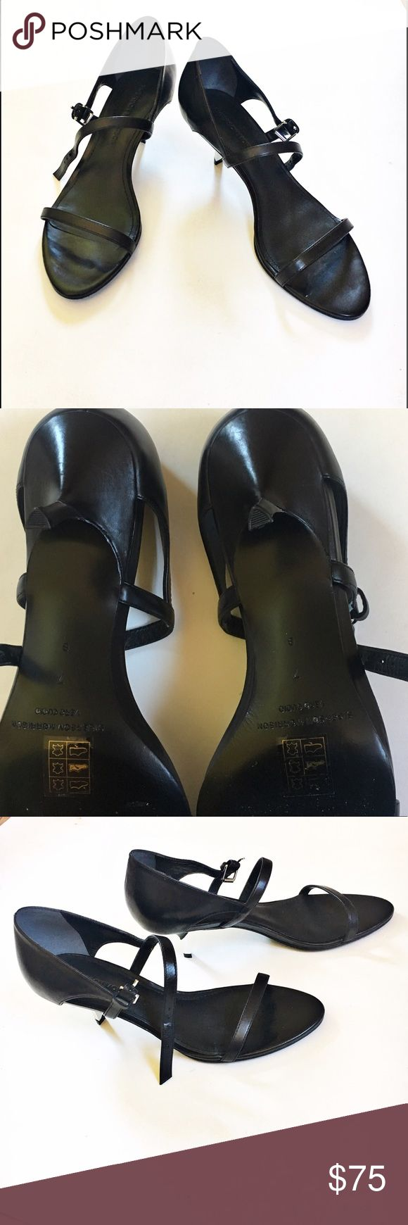 Sigerson Morrison black small heels These are brand new with out the box. There are absolutely no flaws, they have only been tried on once. These are such a gorgeous matte black that is perfect for everything! There is a slight heel approx 1.5 inches Sigerson Morrison Shoes Heels