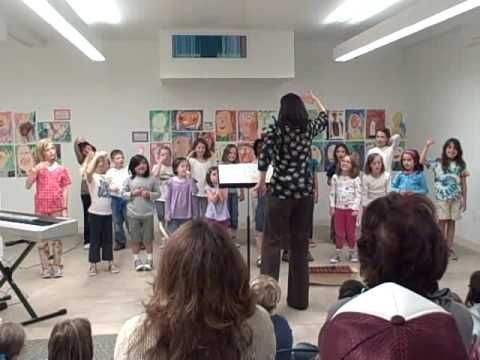 Elementary Choir Warm-ups:  Poison patterns, Zing-Zinga-Za, I am the bear, vowel work with motions