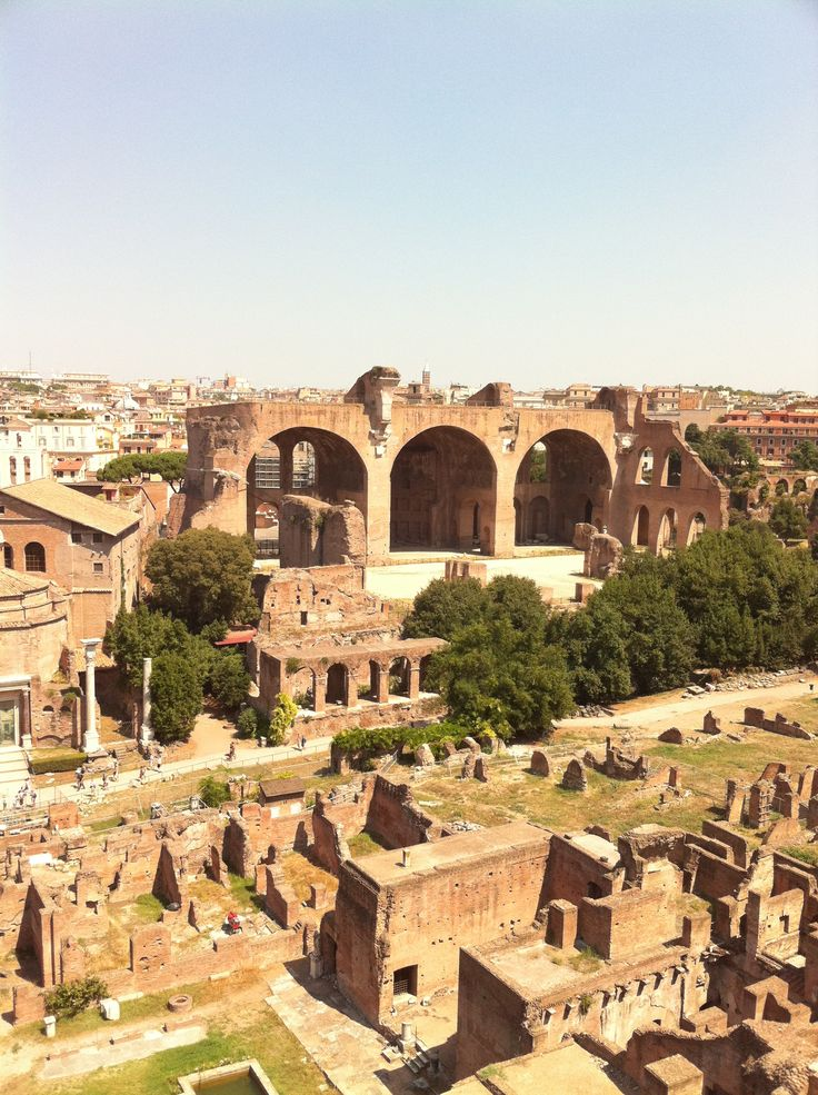 Ancient Rome: Basilica of Maxentius and Constantine at the Roman Forum, 312. A.D.