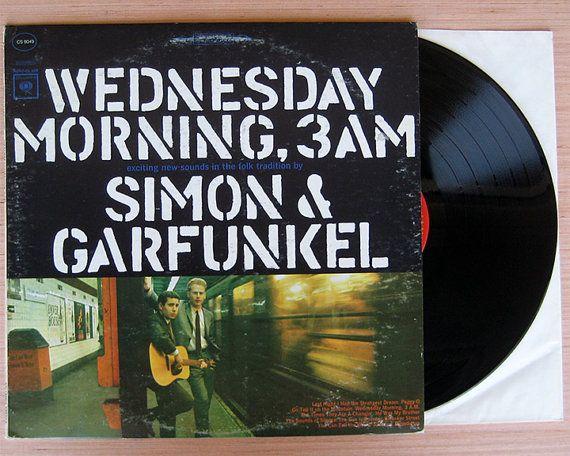"Simon & Garfunkel "" Wednesday Morning, 3 AM"" Vinyl Record LP."