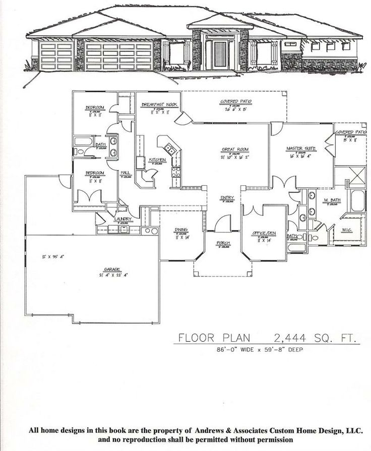 2500 sq ft one story floor plans 2 001 2 500 sq ft for Home plans 2500 square feet