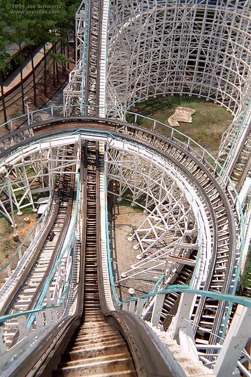 Georgia Cyclone roller coaster at Six Flags Over Georgia