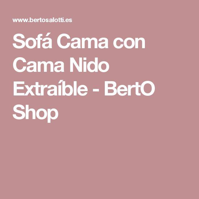 Sofá Cama con Cama Nido Extraíble - BertO Shop