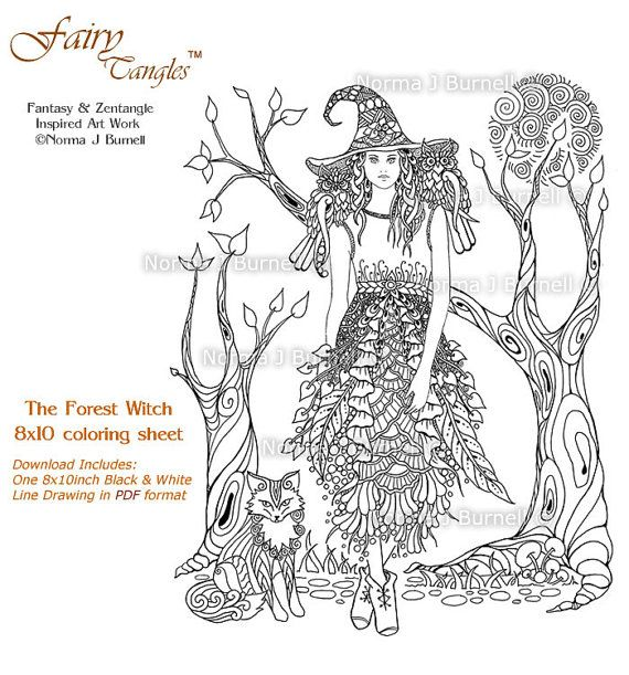 The Forest Witch Fairy Tangles