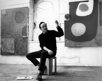 Love this photo of Patrick Heron in Porthmeor Studios 1964
