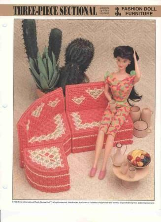 Sofá redondo para barbie | labores de esther. todo para barbie