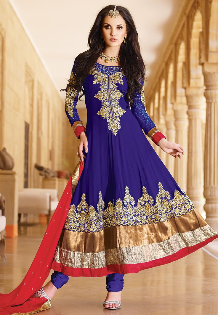 #Blue #Churidar Kameez