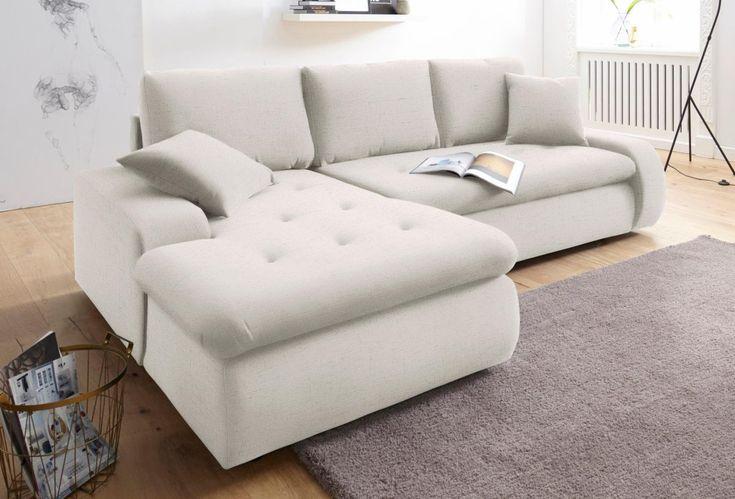 trendmanufaktur ecksofa beige xl recamiere links mit bettfunktion inklusive loser zier und. Black Bedroom Furniture Sets. Home Design Ideas