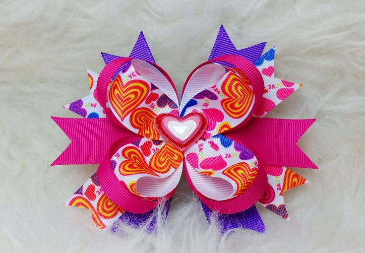 Boutique Stacked Hair Bow - Valentine's Day – HairBowStop