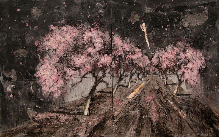 Владимир Мигачев «Тотальная весна». Холст, акрил, зола. 2008 #art #contemporaryart #russianart