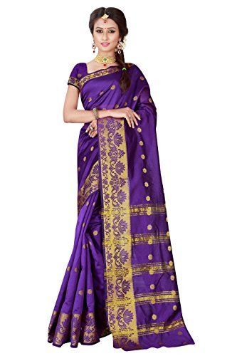 Viva N Diva Purple Banarasi Art Silk Saree With Unstitched Blouse Piece  Saree Color :- *Purple * , Blouse Color :- *Purple *  Saree Fabric :- *Banarasi Art Silk* , Blouse Fabric :- *Banarasi Art Silk*  Saree Work :- *Woven* , Blouse Work :- *Solid*  Saree Length :- *5.5 Meter* , Blouse Length :- *0.8 Meter*  Saree Comes With Unstitched Blouse peice,which is attached with end of the saree only.buyer have to cut blouse part from the saree.stiching service will not be available.There mig...