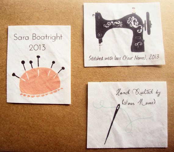 306 best Quilt labels images on Pinterest | Tags, Crafts and Modern : personalized fabric quilt labels - Adamdwight.com
