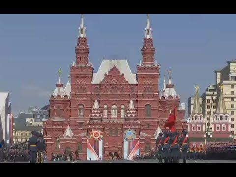 360 LIVE in HD: Moscow V-Day Parade final rehearsal panorama video